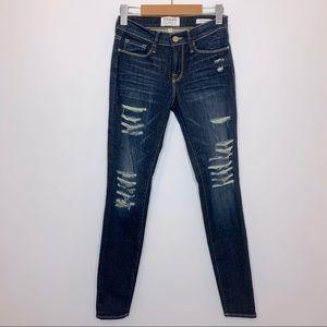 Frame Denim Le Skinny de Jeanne Jeans Dark Wash